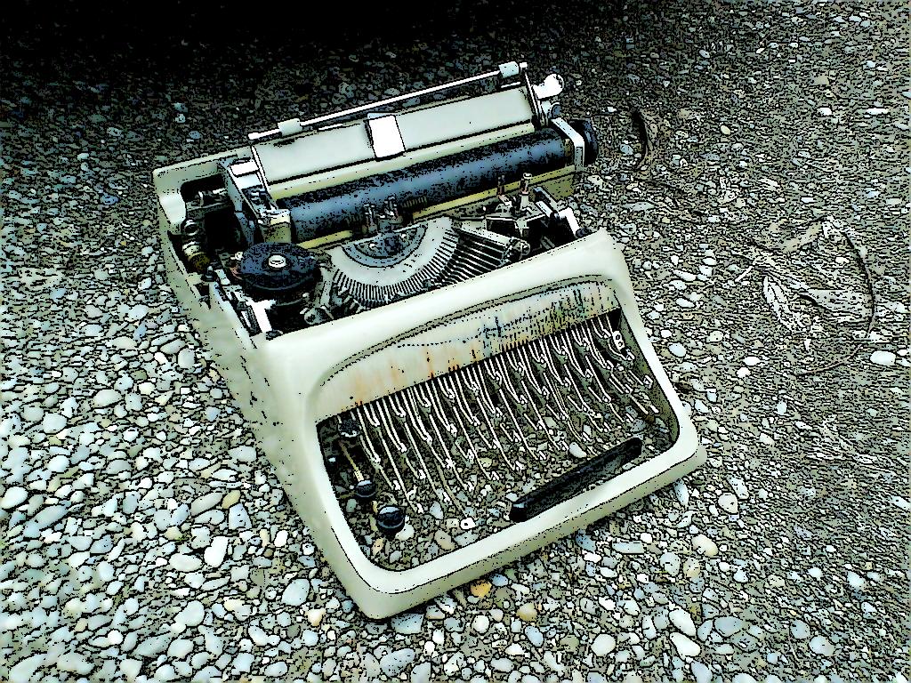 macchina da scrivere o già scritta